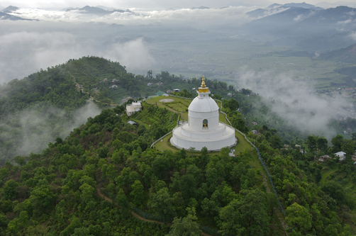 Pokhara, Nepal, Asia- world Peace Pagoda