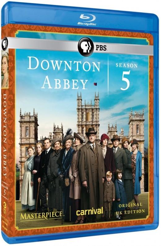 Downton Abbey Season 5 U.K. Edition Blu-ray Version