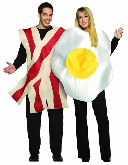 Bacon and Eggs Halloween costume for couples