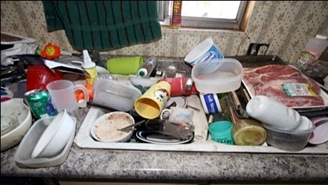 If your sink looks like this, go back to Step 0, clean it up, and then go back to Step 1.