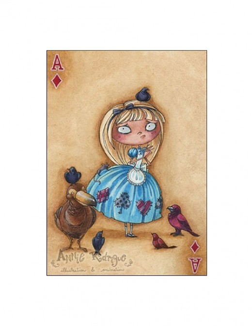 """Alice--Ace of Diamonds"" by Annie Rodrigue"
