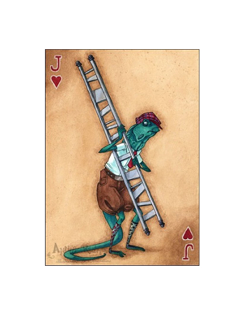 """""""Bill the Lizard--Jack of Hearts"""" by Annie Rodrigue"""