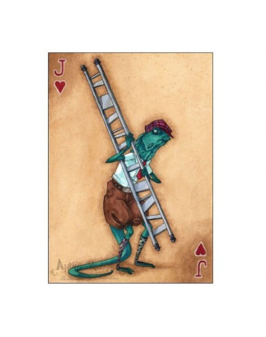"""Bill the Lizard--Jack of Hearts"" by Annie Rodrigue"