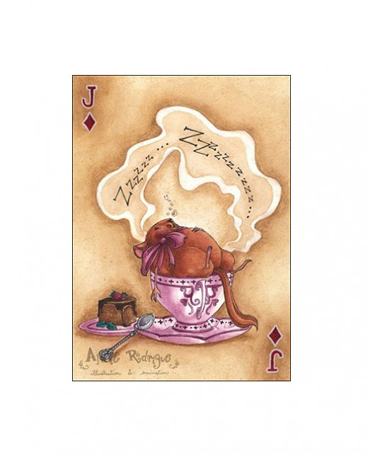 """The Doormouse--Jack of Diamonds"" by Annie Rodrigue"