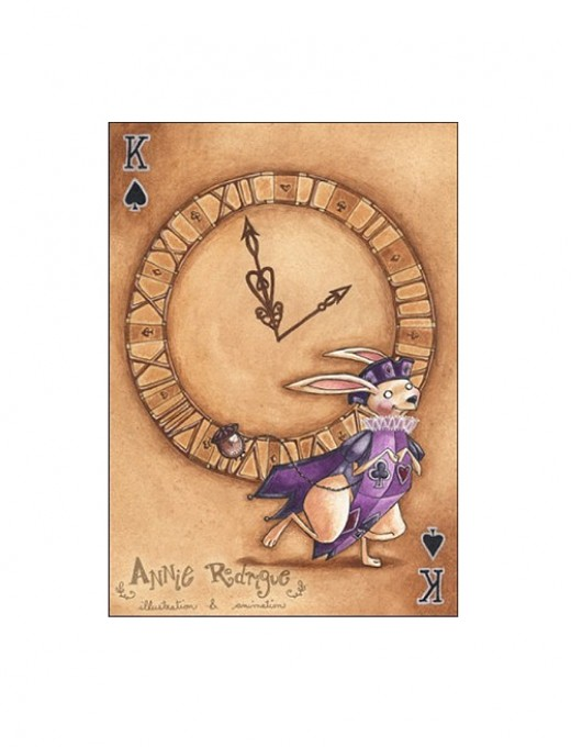 """The White Rabbit--King of Spades"" by Annie Rodrigue"