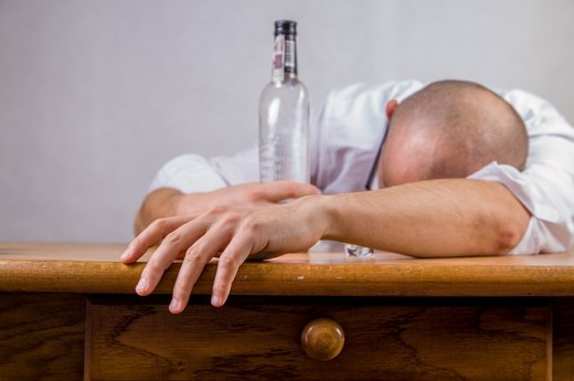 When you're hungover, empty bottles tell their own story