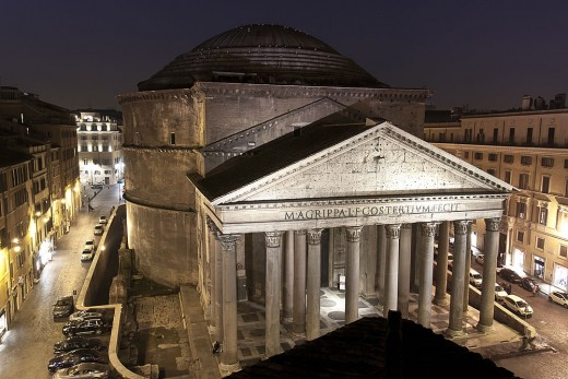 Sight of the Pantheon from the hotel's window