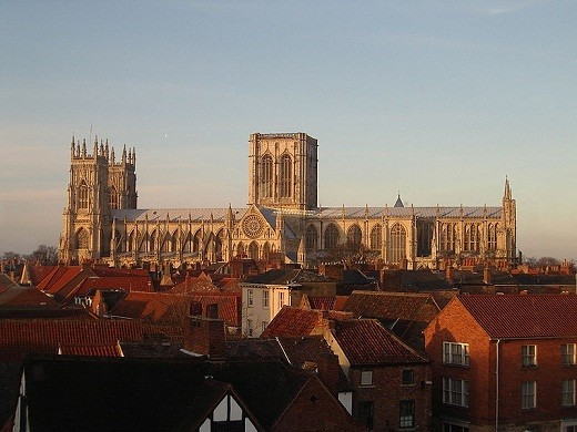 York Minster, picture taken from a nearby rooftop