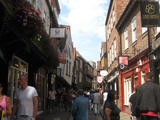 The Shambles in the city of York was a medieval street that has survived into the 21st century.