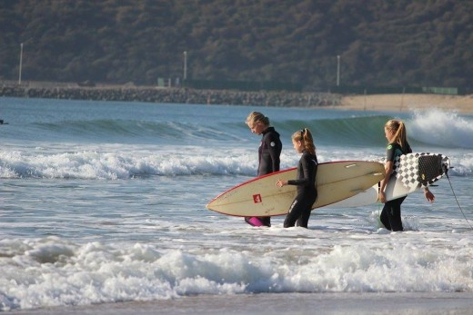 Two of our BEST aspiring young surfers heading out for another lesson with one of our professional coaches.