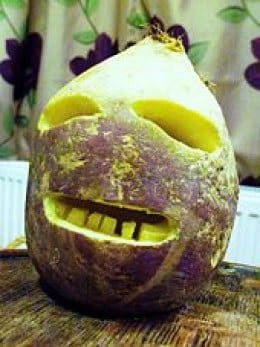 Cornish turnip Jack O Lantern