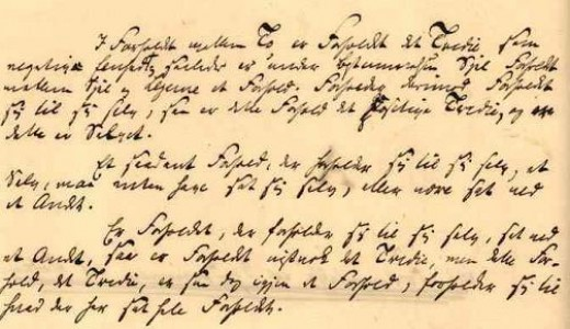 Søren Kierkegaard's manuscript of The Sickness Unto Death.