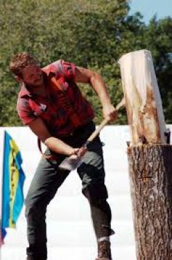 """Some towns hold """"Lumberjack Competitons"""""""