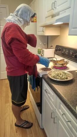 Preparing Indian Snack Sabu Dana Vada