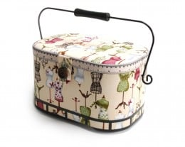 A beautiful vintage style sewing basket