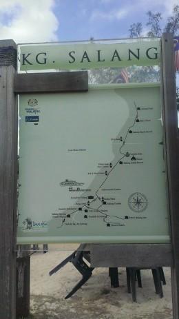 Kampung Salang map, near the Jetty.