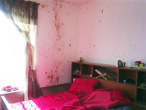 A room in Haditha where civilians were shot by U.S. forces.