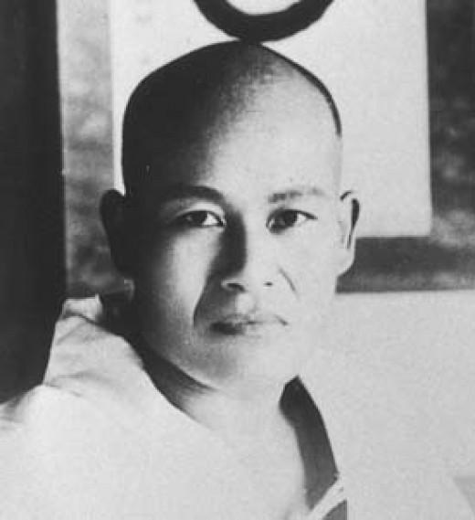 Morihei Ueshiba in Ayabe in 1921