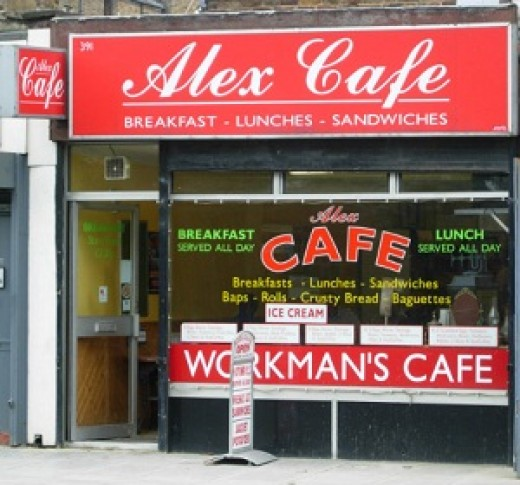 All day breakfast available at this London workman's café
