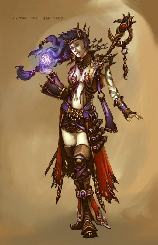 Diablo 3 Wizard concept art.