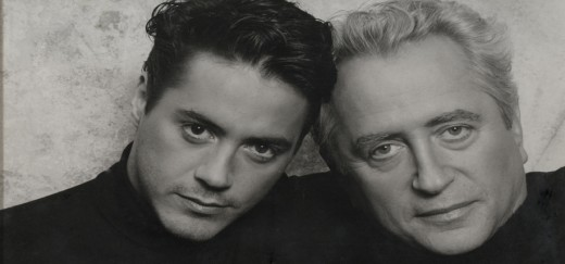 Robert Downey Jr. & Sr. black and white both in their younger days