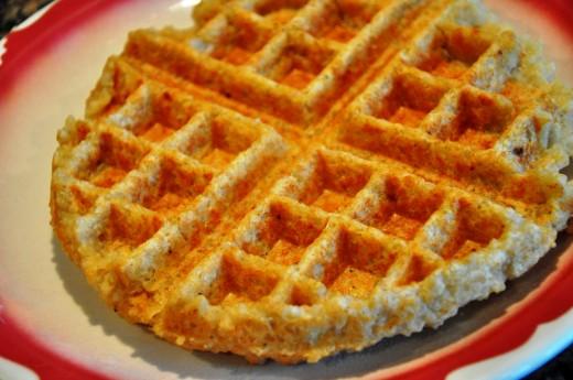 Gluten free quinoa waffles.