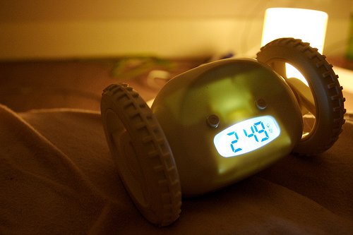 The clocky alarm makes you chase it around your bedroom.