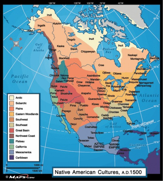 North American First Nations civilizations were organized  and connected through trade and migration. The North American Tribes referred to North America as Turtle Island after an ancient creation myth in their mutual culture.