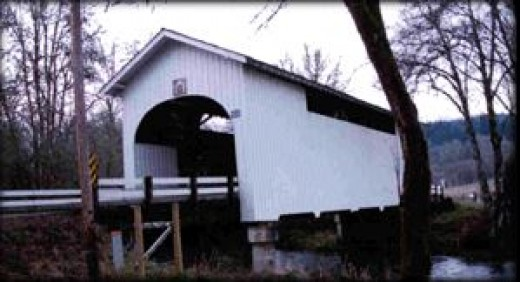 This bridge is 75 feet long and crosses over the Mary's River.