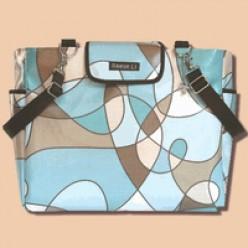 Blue Taffy Lexington tote bag by Reese Li