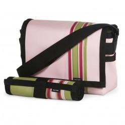 Pink Airship messenger bag