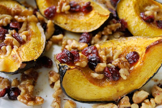 Roasted Acorn Squash with Cranberries Recipes