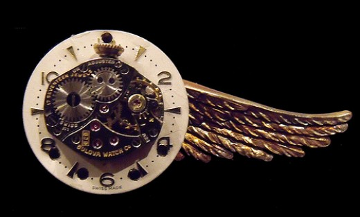 Winged Steampunk Clock