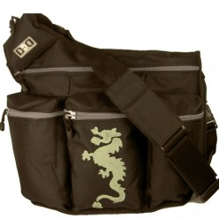 Black Dragon bag by Diaper Dude
