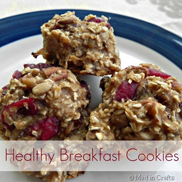 Healthy cranberry breakfast cookie recipe