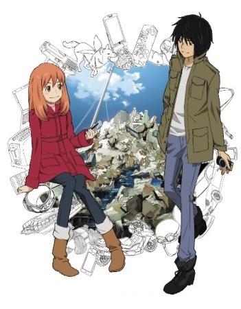 The two main characters, Saki Morimi and Akira Takizawa.