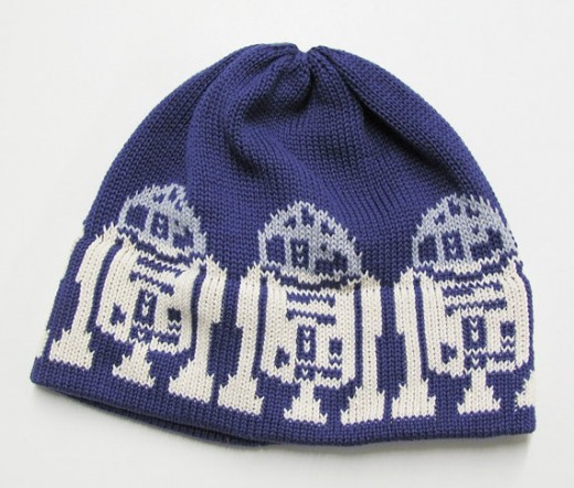 R2D2 Knit Hat For the Gal in a galaxy far far away