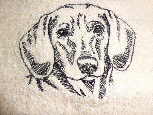 Dachshund 'Wipe my Paws' Towel