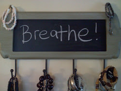 Writing it down is a great way to remind yourself to breathe, and breathe.