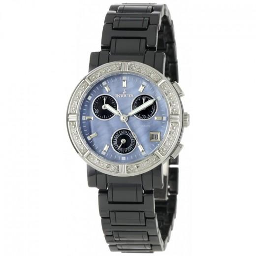 Invicta 0728 Ceramics Chronograph Diamond Watch