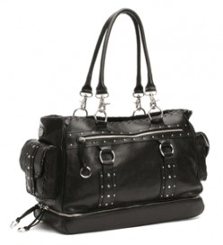 Whipstitch Leather diaper bag by Nest