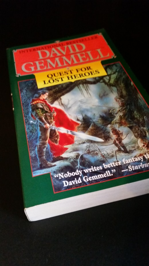 Another photo of my copy of Quest for Lost Heroes by David Gemmell; I like to take pictures of my books, what can I say?