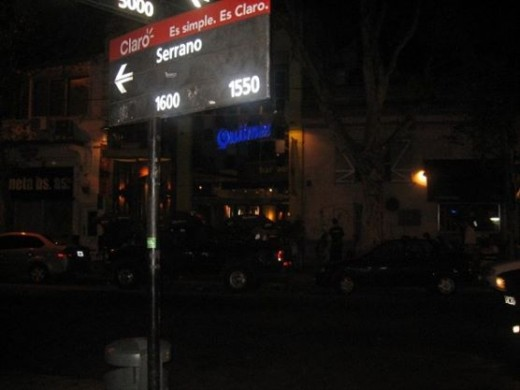 The Sign leading to the opening block of Plaza Serrano where all the hype at night occurs