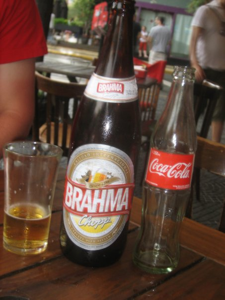 The Brahma Beer (another Argentine favorite other than Quilmes) was cheaper than the small Coca-Cola sitting beside it. Which would you choose?