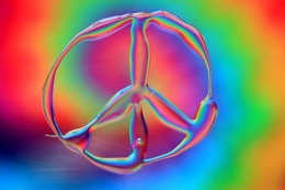 """Tie Dye Rainbow Peace"" by D. Sharon Pruitt"
