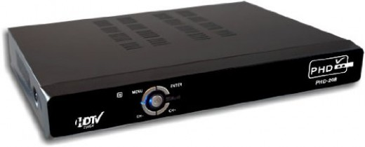 The PrimeDTV PHD-208 offers full HD 1080p video scaling and enhancement, as well as exceptional RF tuner reception.  The picture quality is exceptional and there is a USB input for listening to MP3 music and viewing JPEG images.