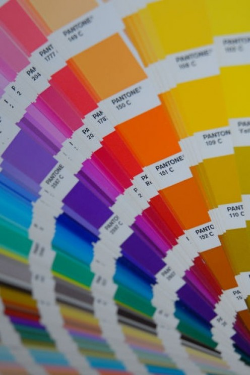 Color swatches for art prints