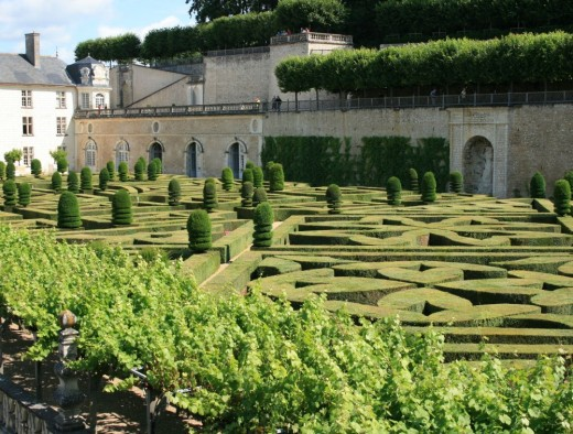 The first ornamental gardens looking towards the chateau