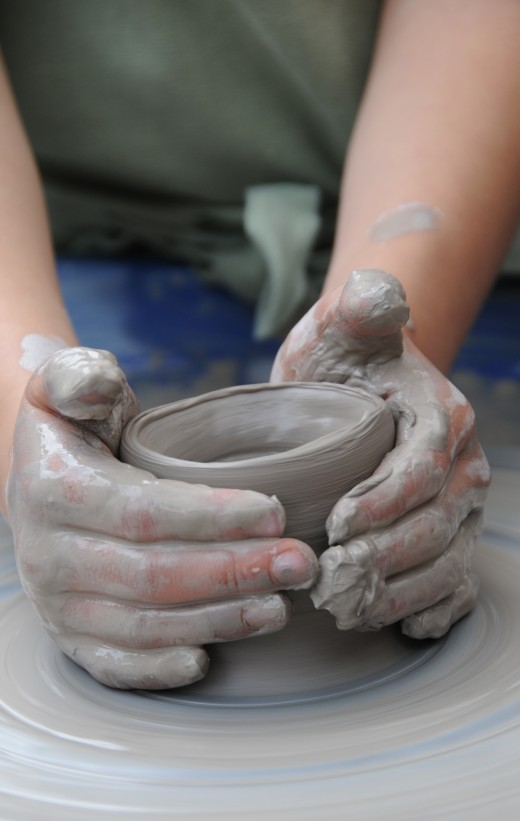 Getting to grips with a wobble on the pottery wheel