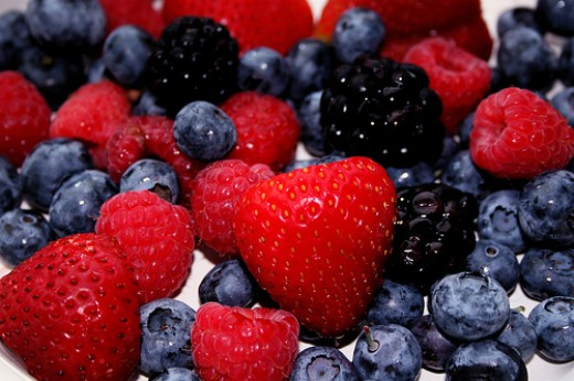 Berries are excellent sources of fiber. Photo by The Wandering Angel.